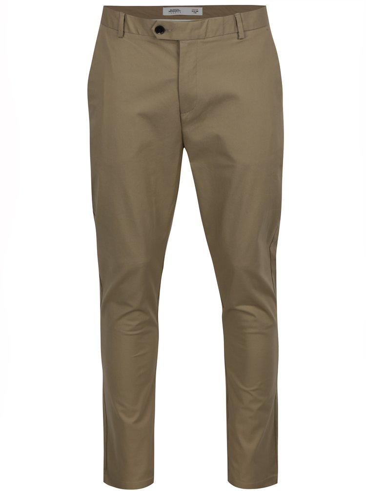 Pantaloni chino bej Burton Menswear London