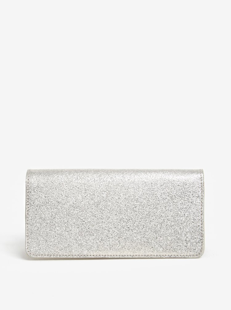 Portofel argintiu din piele ELEGA Amina