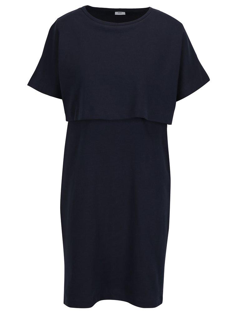 Tmavě modré kojicí šaty s krátkým rukávem  Mama.licious Malan
