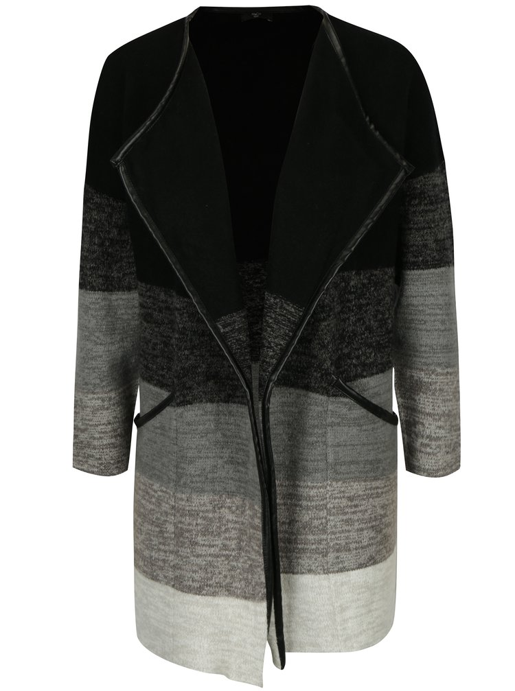 Šedo-černý dámský kardigan s kapsami M&Co Petite