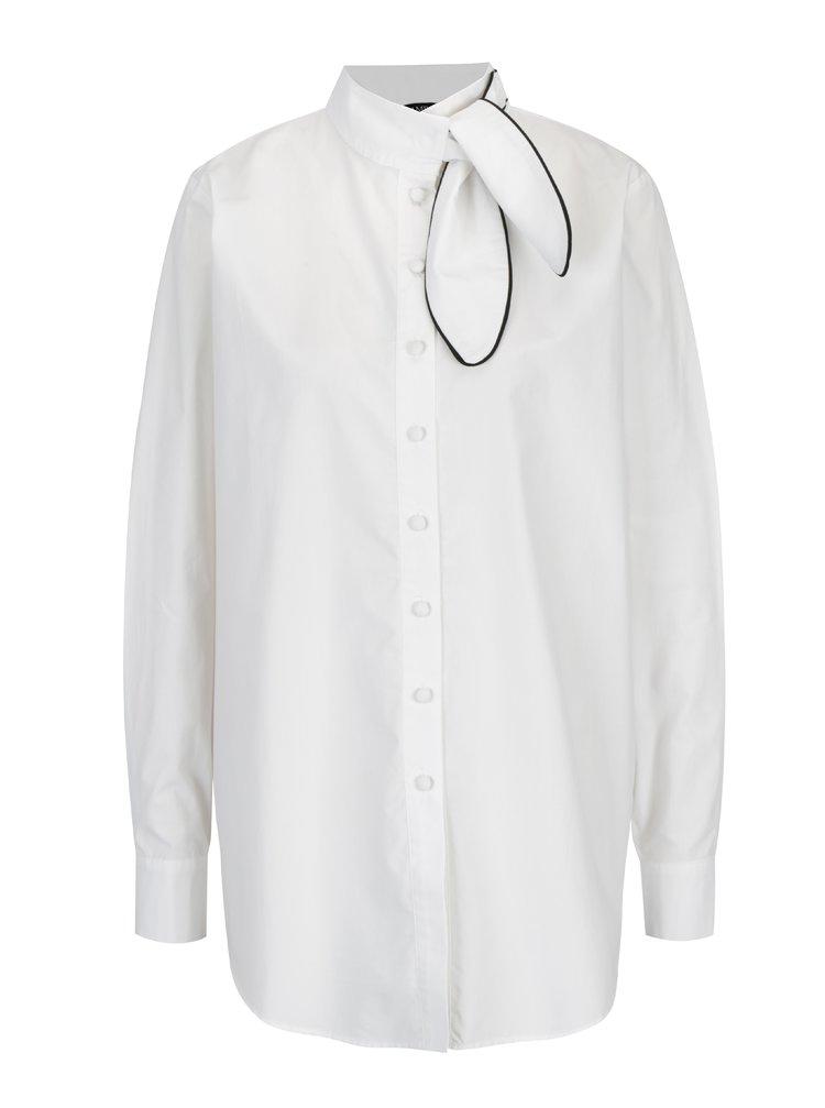 Bílá košile s vázáním u krku Framboise The Sistine