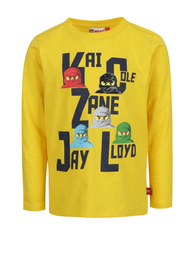Žluté klučičí tričko s dlouhým rukávem Lego Wear Thomas