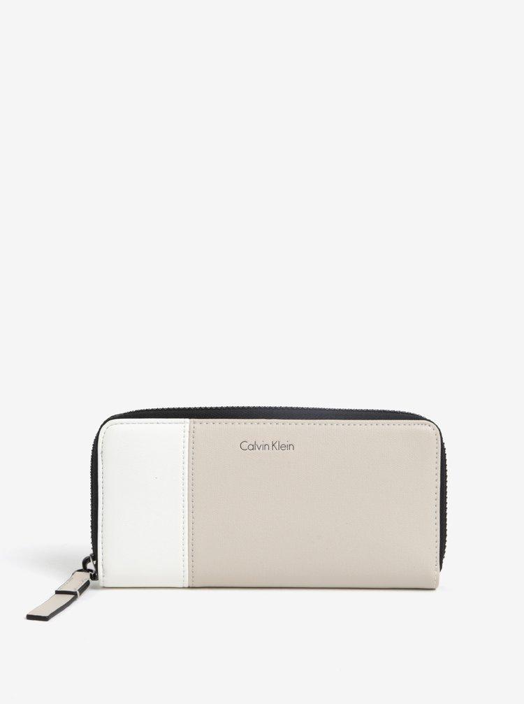 Krémová peněženka Calvin Klein Jeans Urban