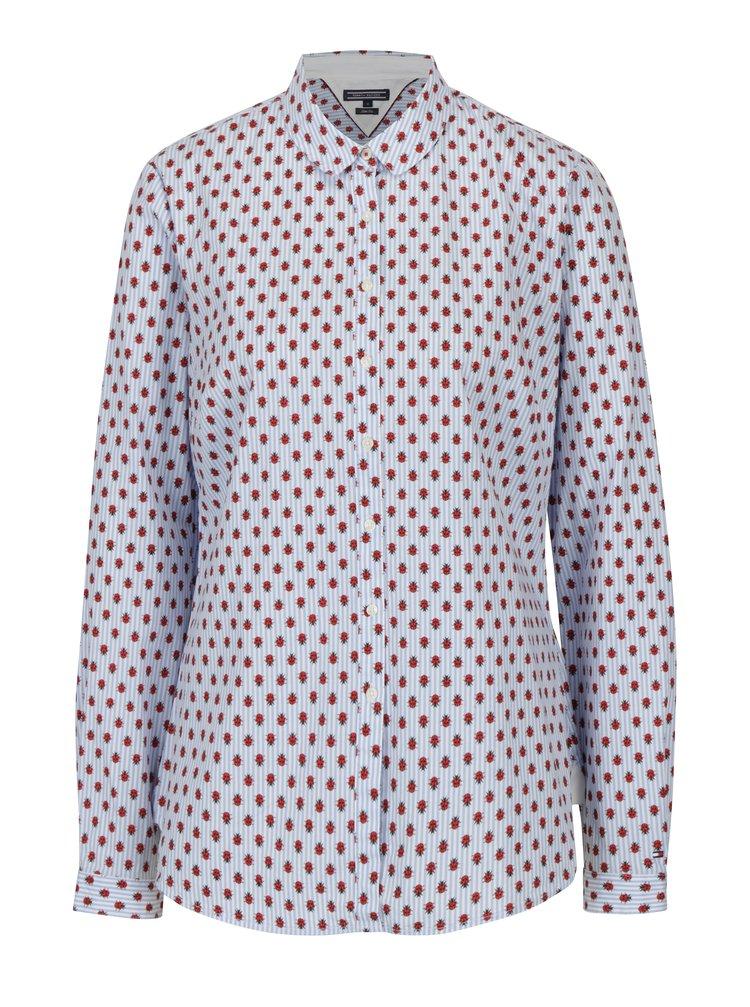 Modrá dámská pruhovaná slim fit košile s motivem berušek Tommy Hilfiger
