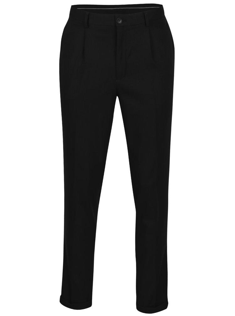 Pantaloni negri cu model discret - Selected Homme Tapered