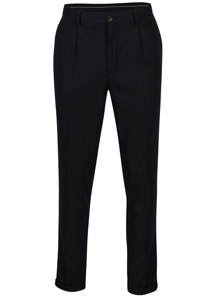 Pantaloni bleumarin cu model discret - Selected Homme Tapered