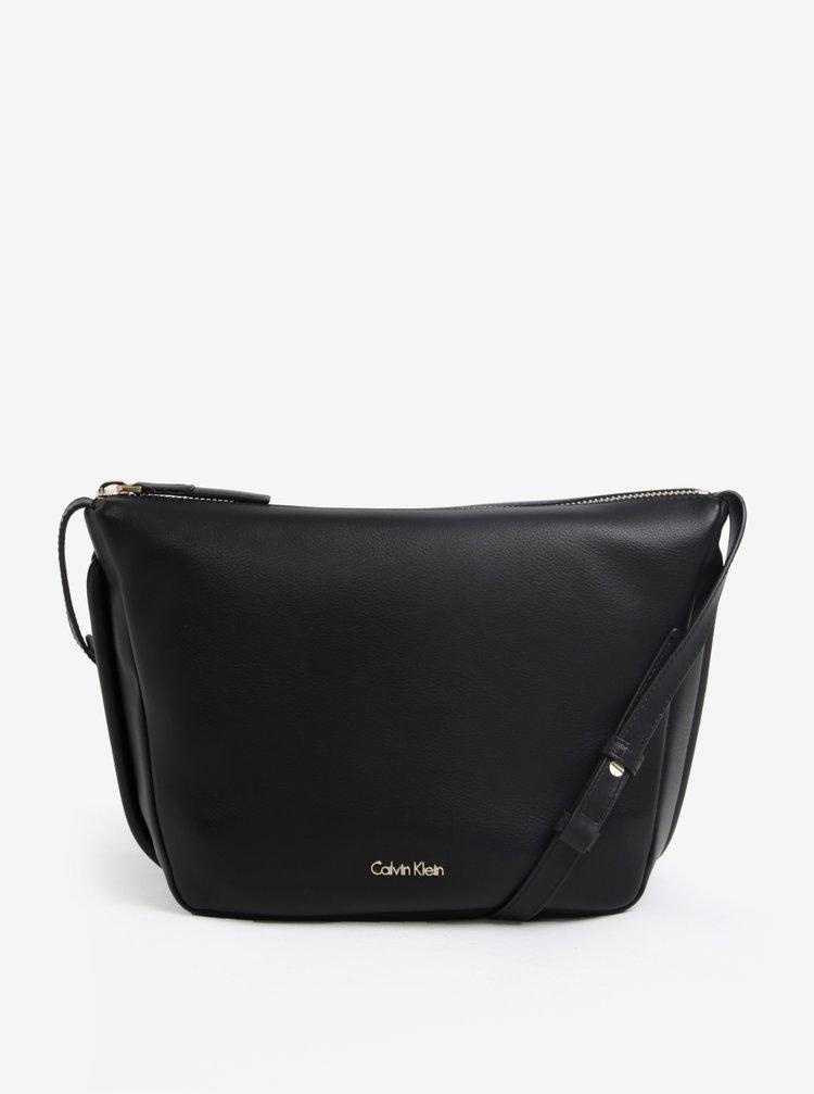 Čierna crossbody kabelka Calvin Klein Jeans Suave