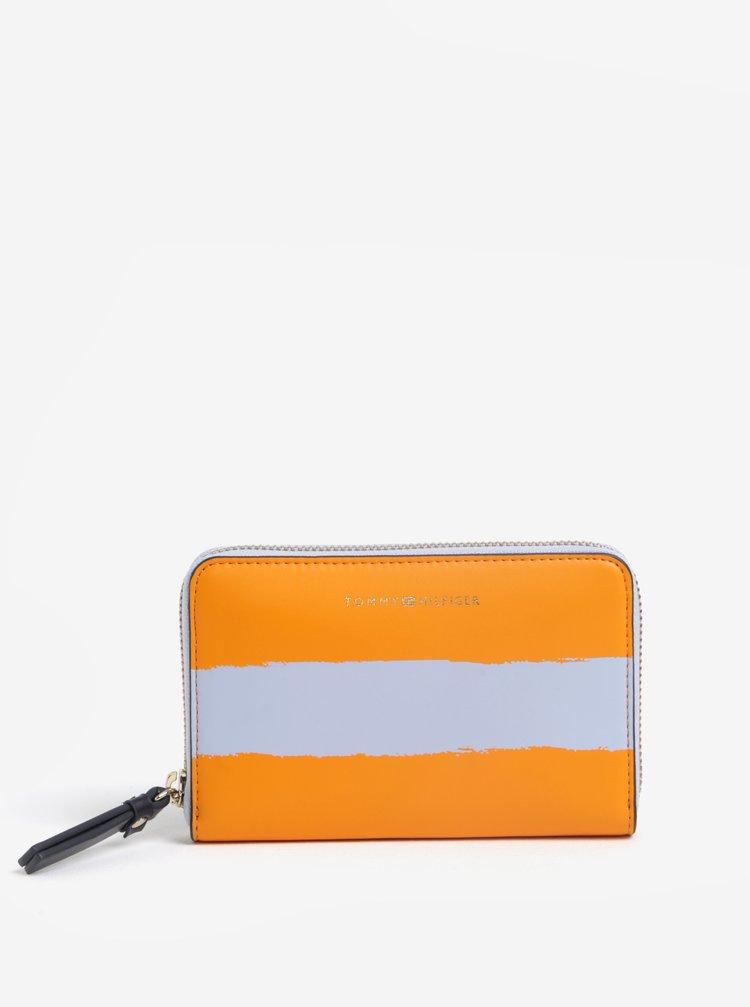 Šedo-oranžová dámská pruhovaná peněženka Tommy Hilfiger