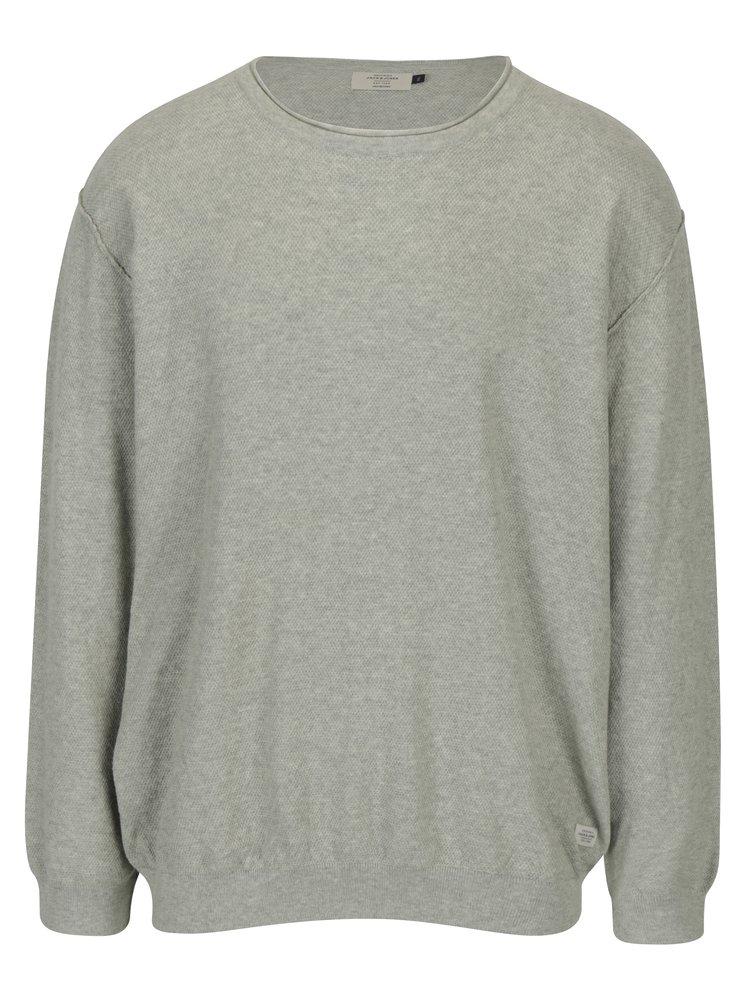 Pulover gri tricotat cu model discret - Jack & Jones Nash