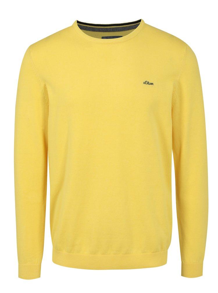 Pulover subtire galben pentru barbati - s.Oliver