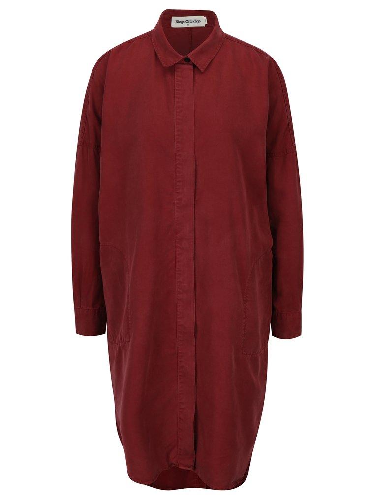 Camasa rochie bordo cu nasturi  Kings of Indigo Juliana