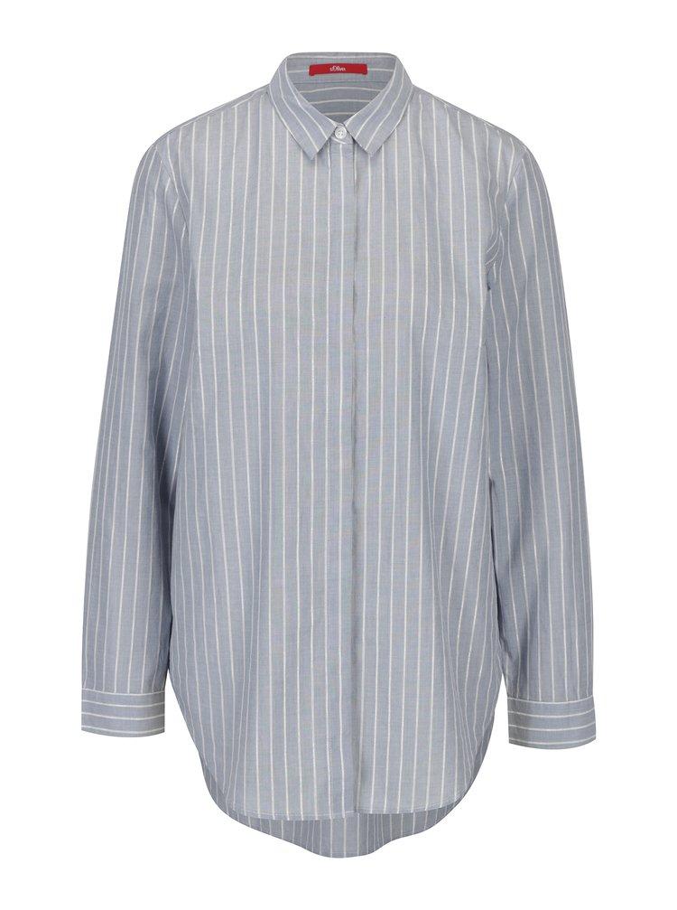 Modrá dámská pruhovaná košile s.Oliver