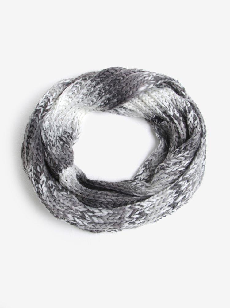 Fular gri&crem circular pentru femei LOAP Zaira