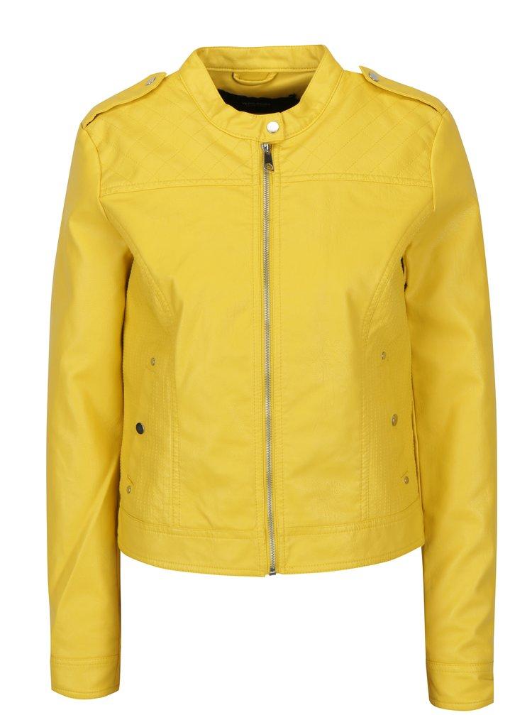 Žlutá koženková bunda VERO MODA Alice