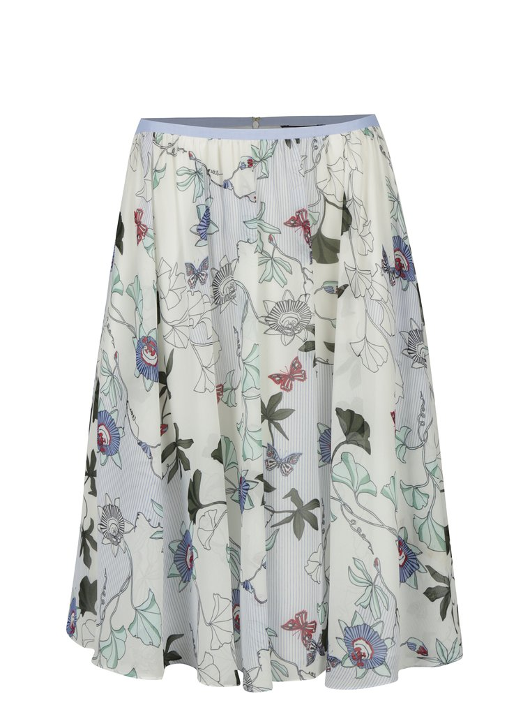 Krémová květovaná sukně Tommy Hilfiger