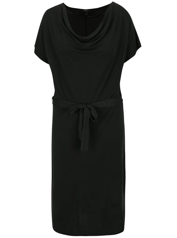 Černé volné šaty se zavazováním v pase VERO MODA Nice