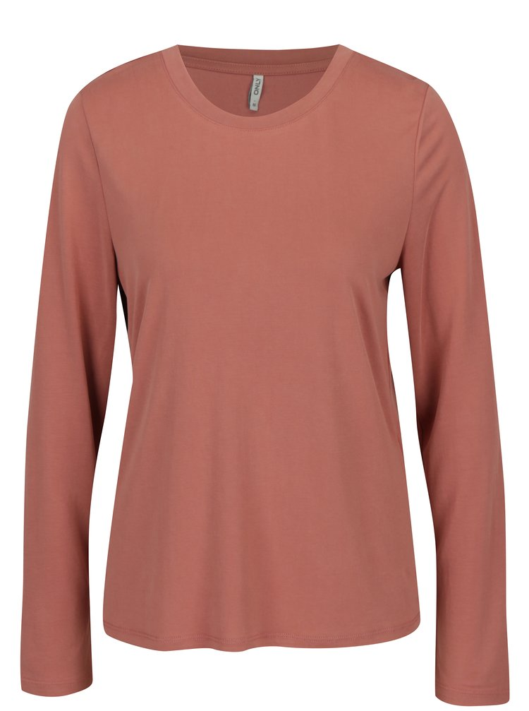 Bluza lejera roz-prafuit cu decolteu rotund - ONLY Venus