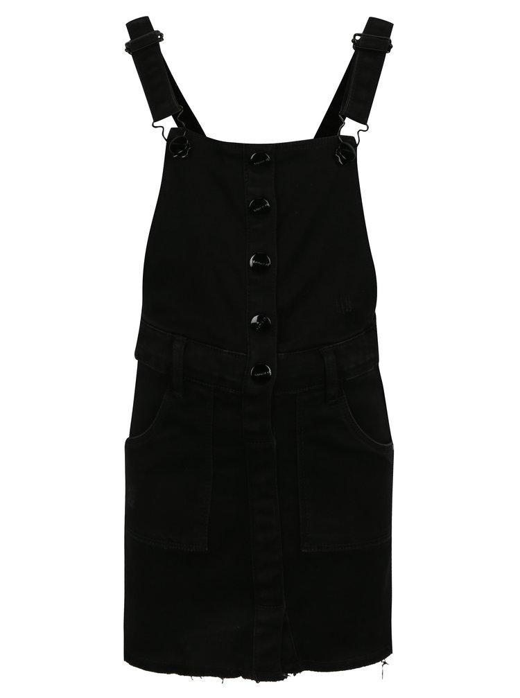 Černá holčičí džínová sukně s laclem name it Biclik