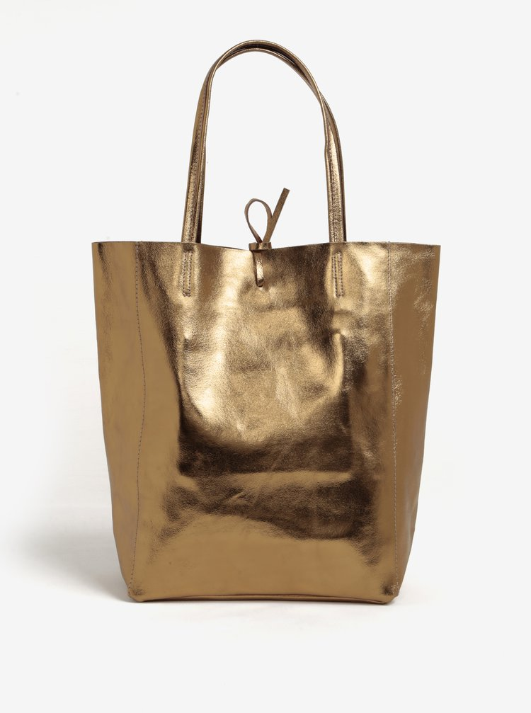 Geanta shopper aurie din piele - ZOOT Simple