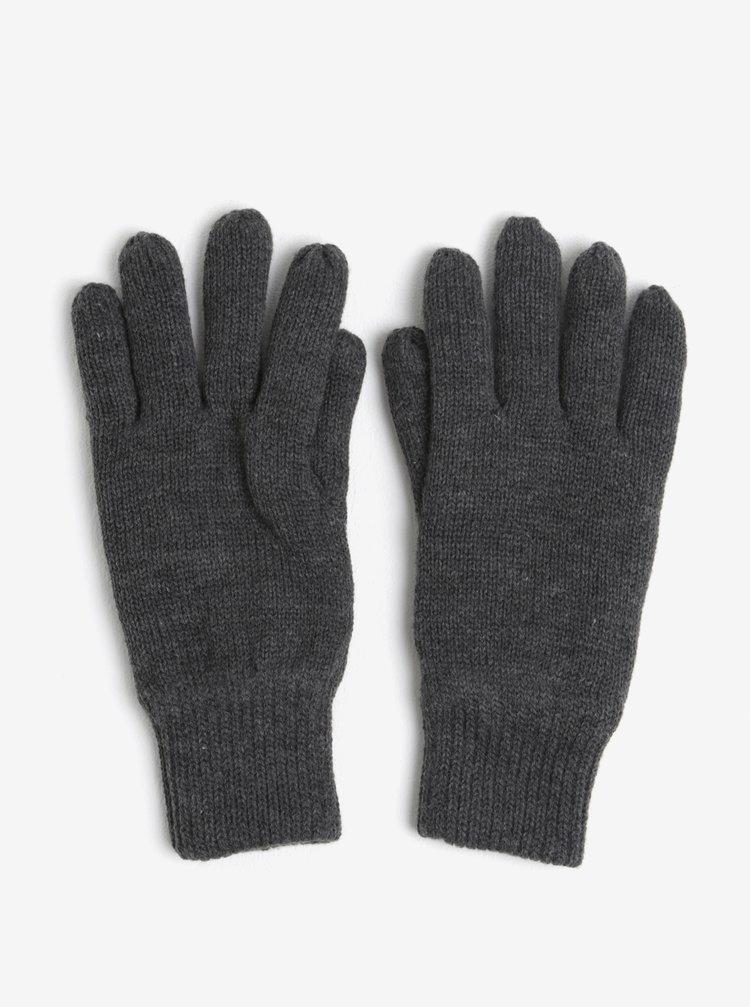 Tmavě šedé rukavice Burton Menswear London