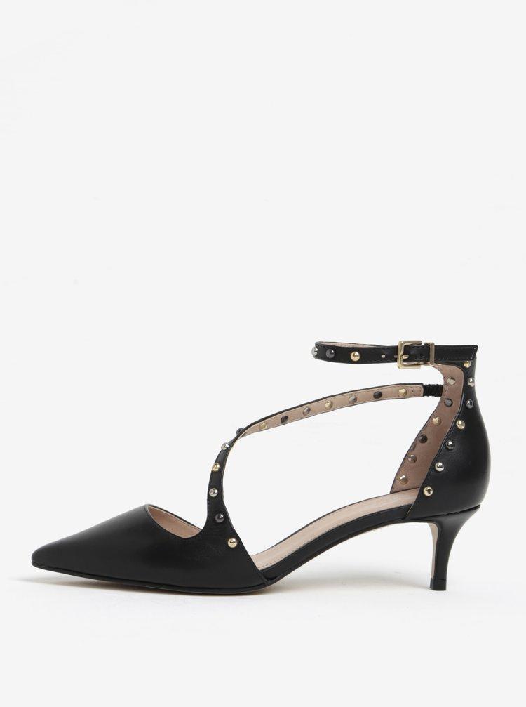 Černé kožené sandálky s páskem Carvela Aspire NP