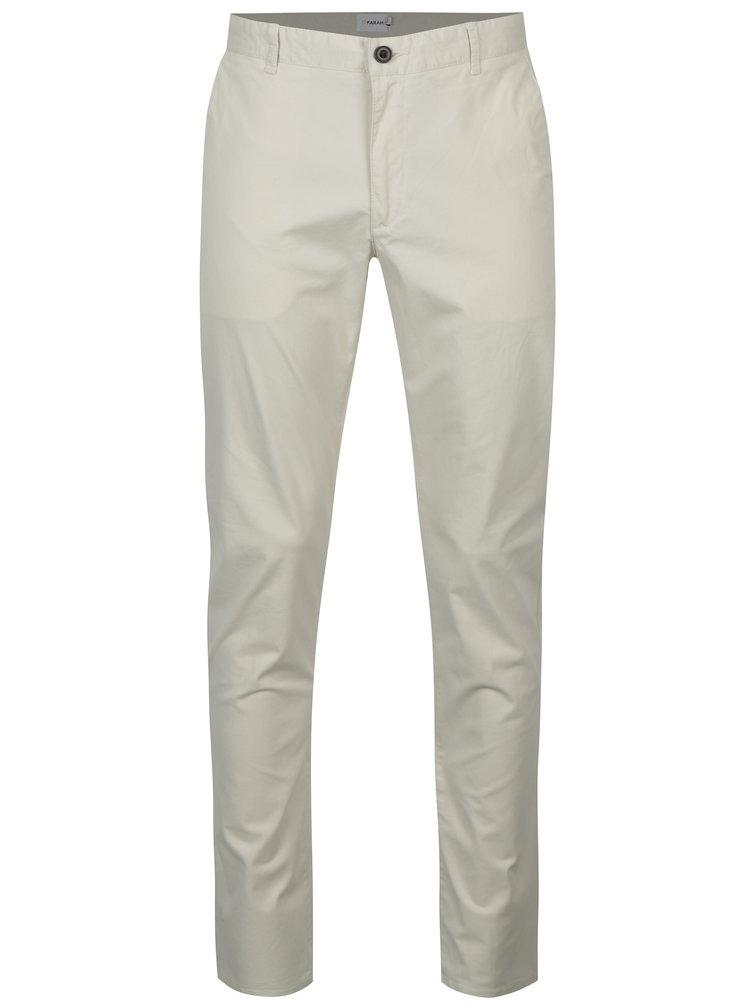 Krémové chino nohavice Farah Twill