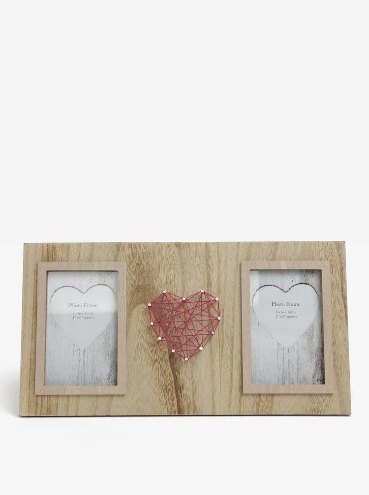 Rama foto de lemn cu decoratiune inima SIFCON
