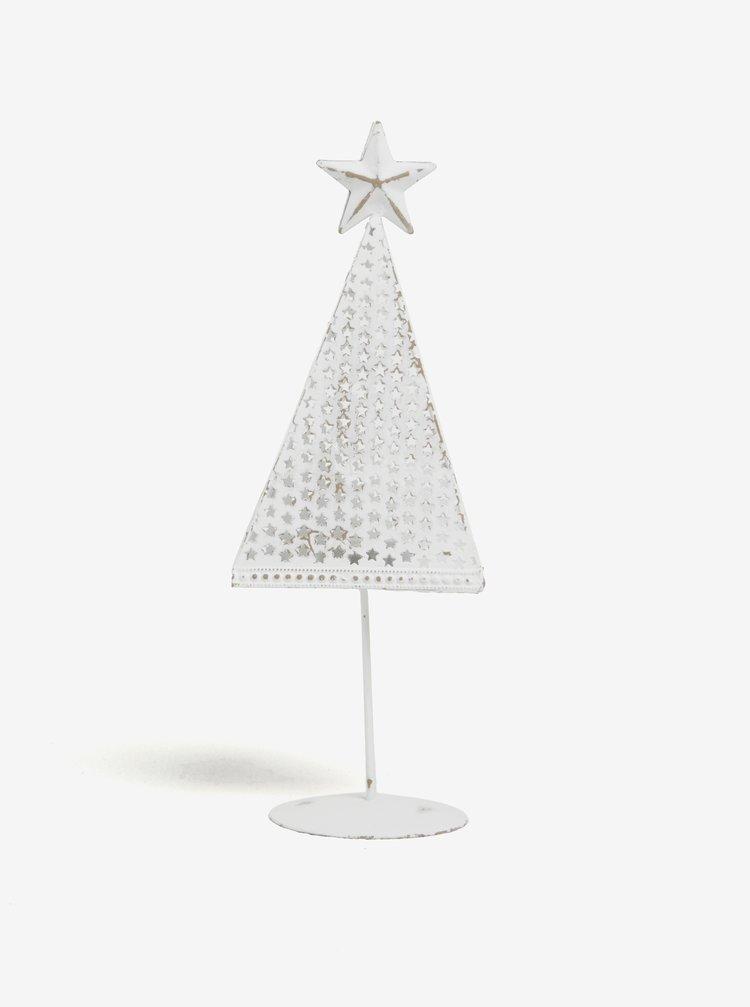 Bílý kovový svícen ve tvaru stromu Dakls