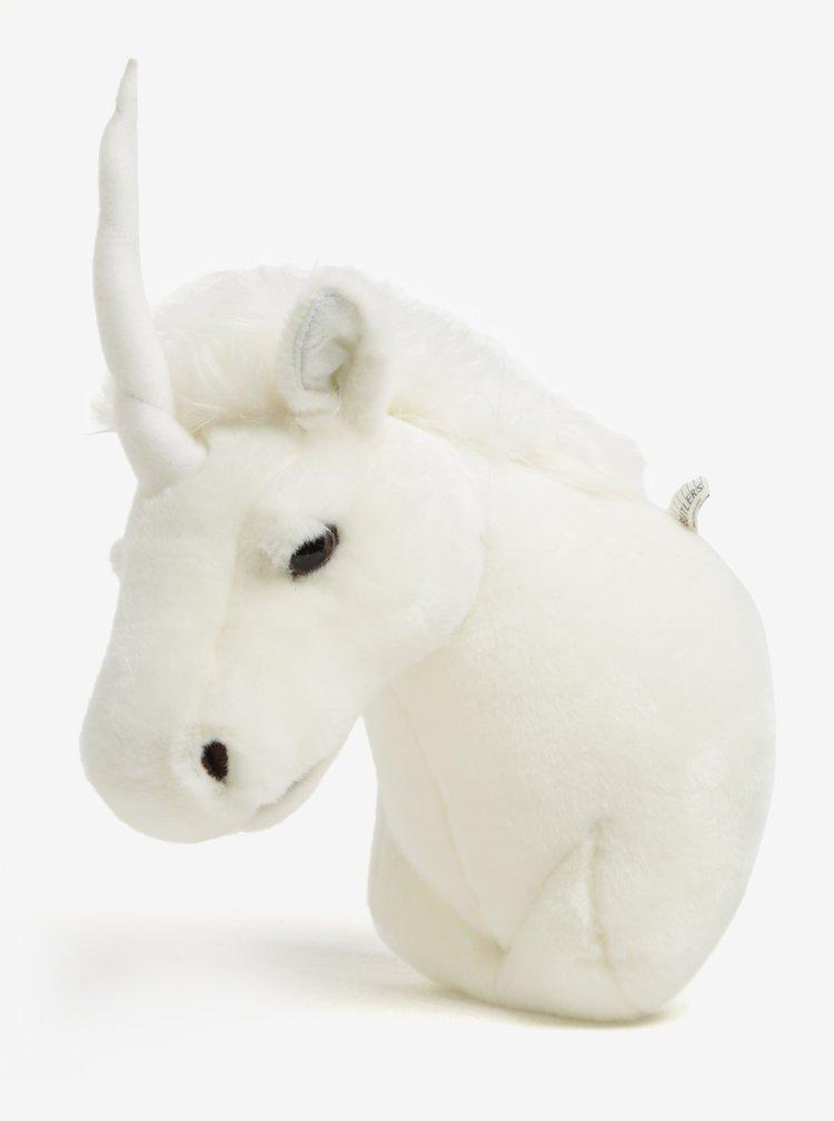 Decoratiune de perete crem in forma de unicorn  BUTLERS