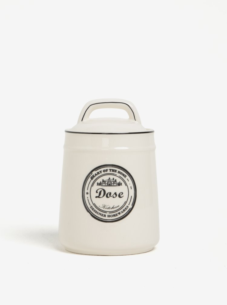 Recipient crem din ceramica cu print Dakls