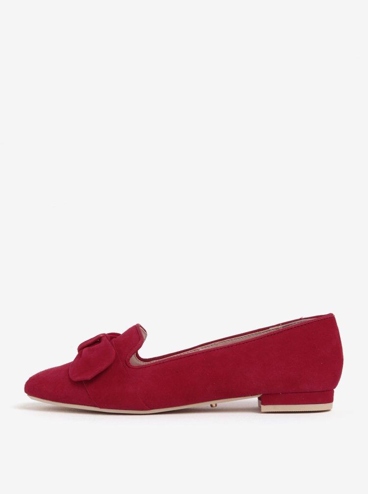 Červené semišové mokasíny Dune London Softy