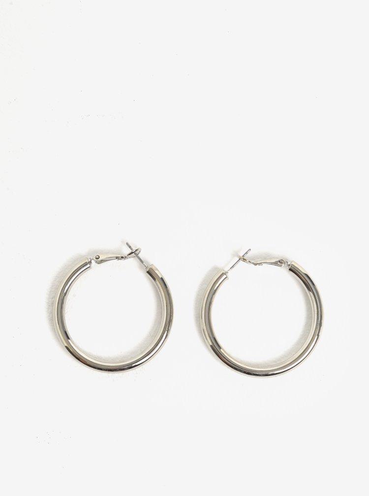 Kruhové náušnice ve stříbrné barvě Pieces Mara