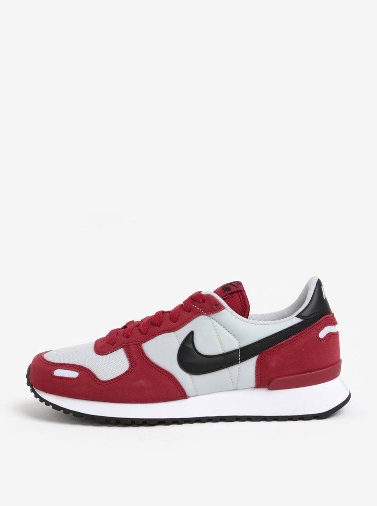 Bílo-červené semišové pánské tenisky Nike Air Vortex