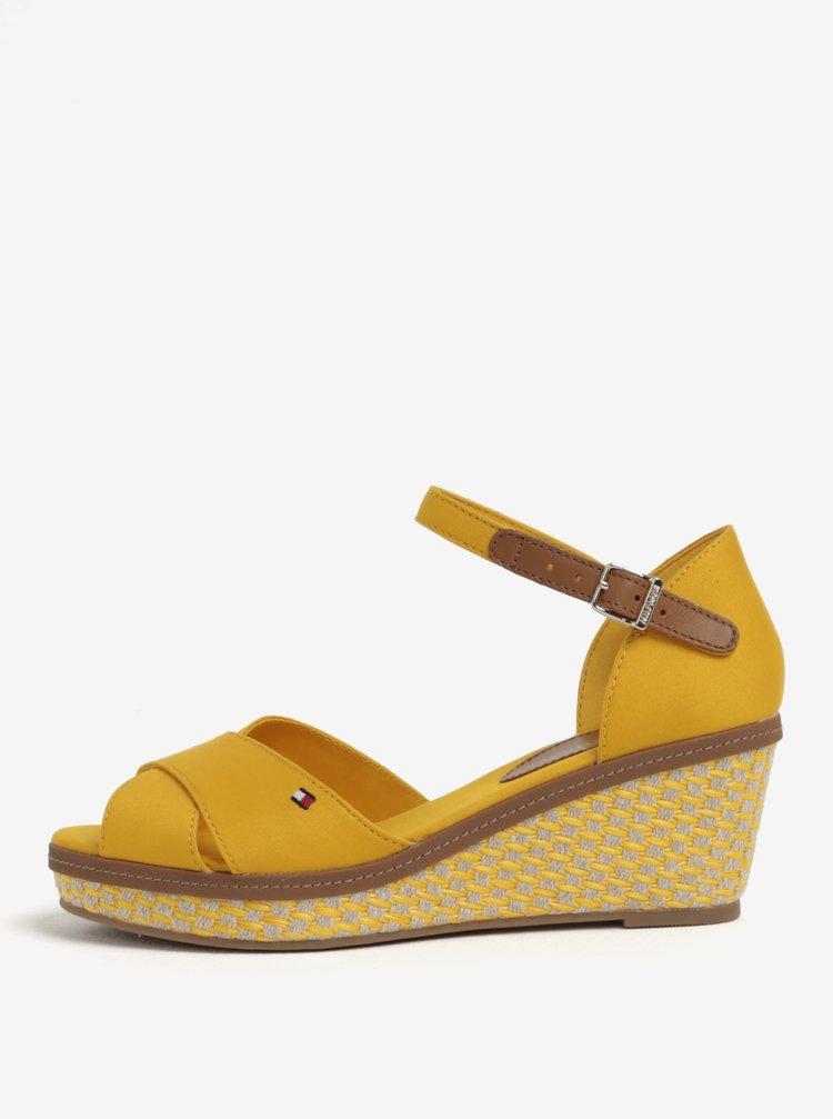 Žluté sandálky na klínku Tommy Hilfiger