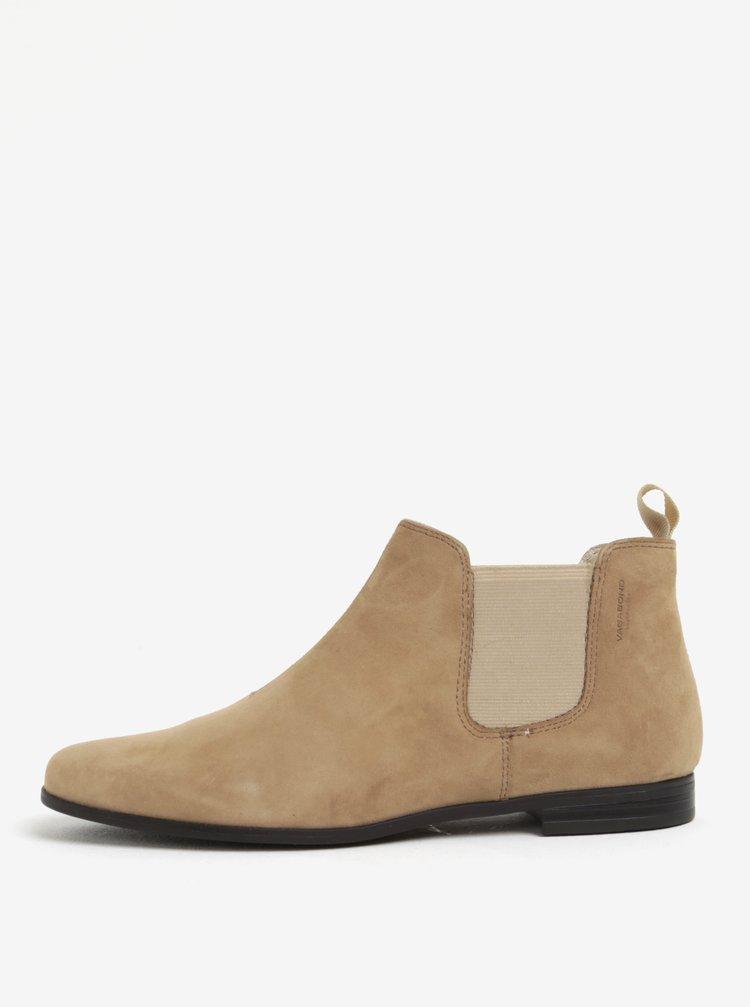 Béžové dámské semišové chelsea boty Vagabond Marilyn