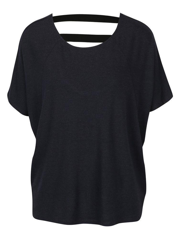 Bluza oversized bleumarin cu elastic la spate ONLY Moster