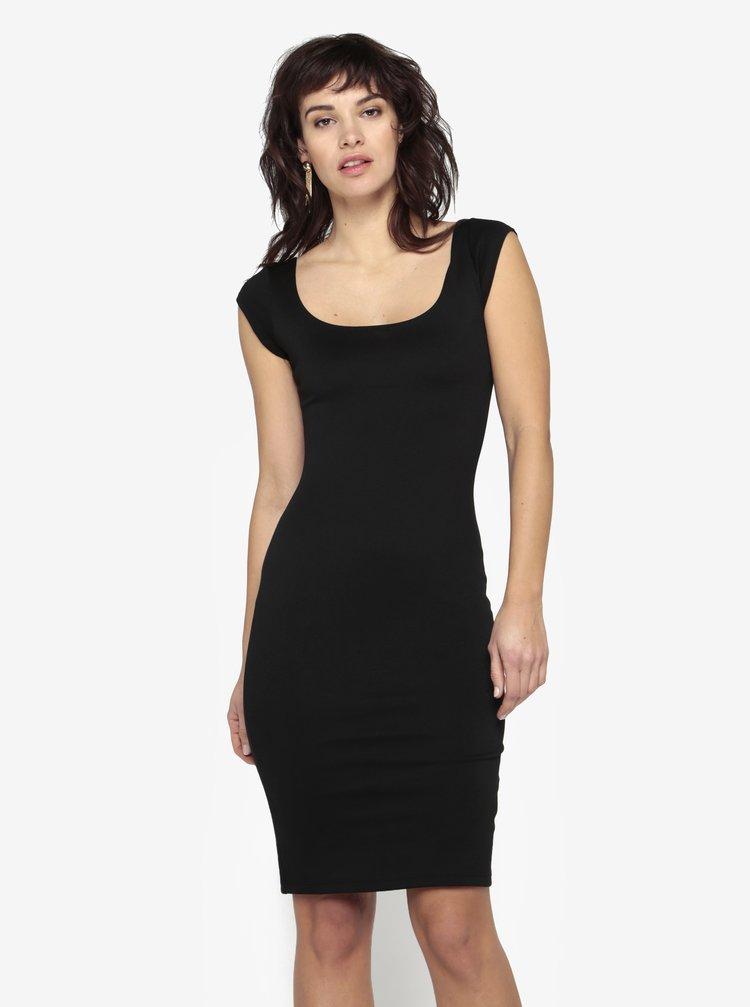 Černé pouzdrové šaty s kulatým výstřihem ZOOT