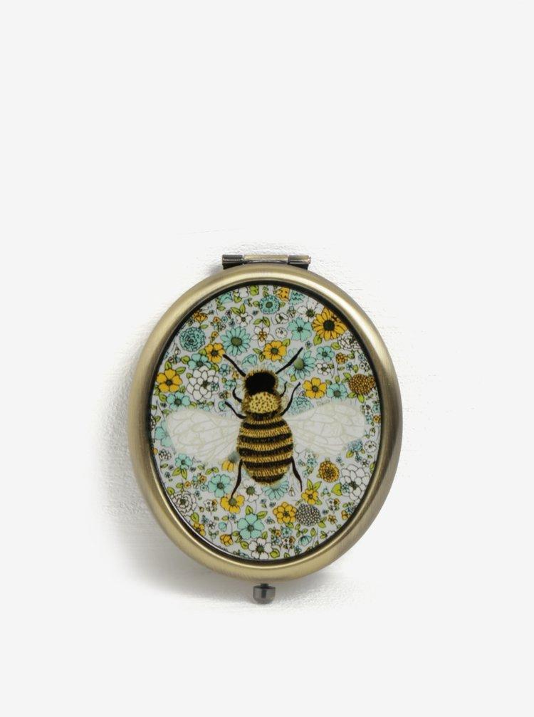 Kompaktní zrcátko v měděné barvě Sass & Belle Summer Floral
