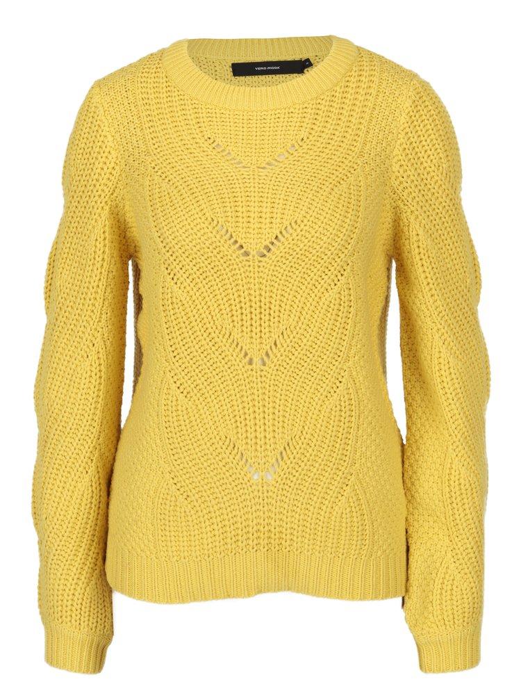 Žltý sveter VERO MODA Wishi