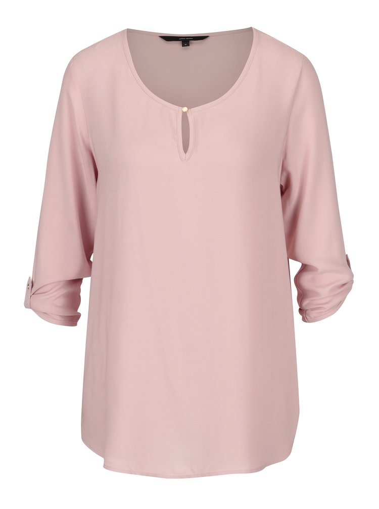 Bluza lejera roz pal cu maneci 3/4 - VERO MODA Buci