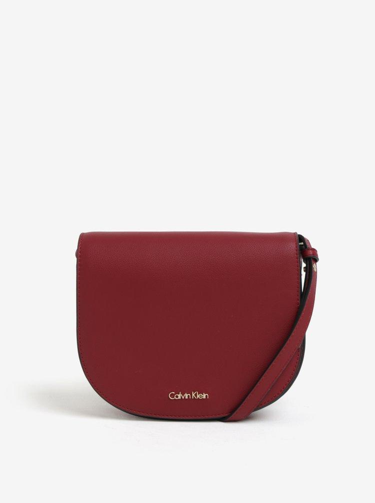 Vínová crossbody kabelka Calvin Klein Jeans Metropolitan