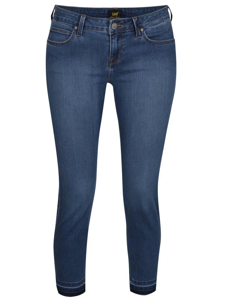Blugi skinny cropped albastri cu talie joasa pentru femei - Lee Scarlett