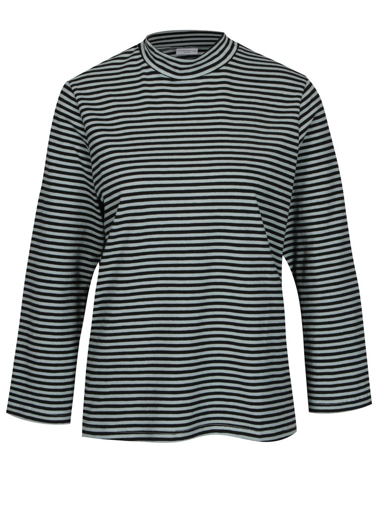 Černo-zelené pruhované tričko Jacqueline de Yong Gana