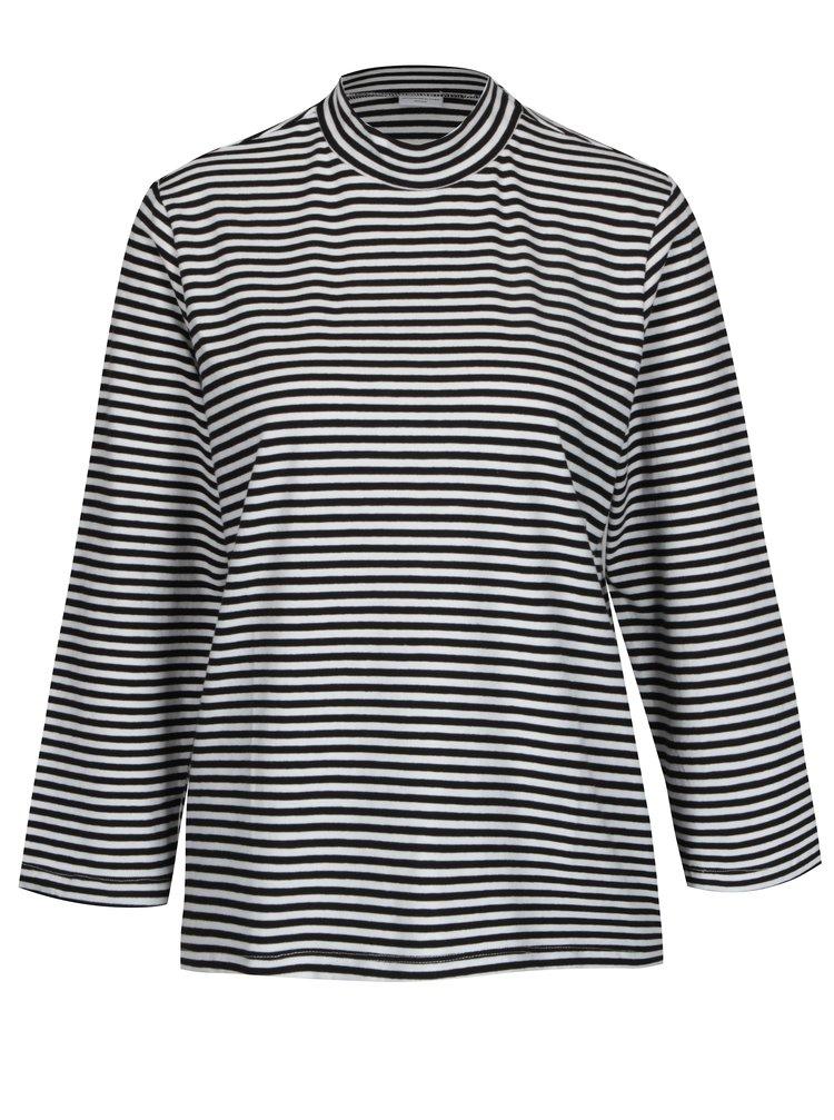 Bílo-černé pruhované basic tričko Jacqueline de Yong Gana