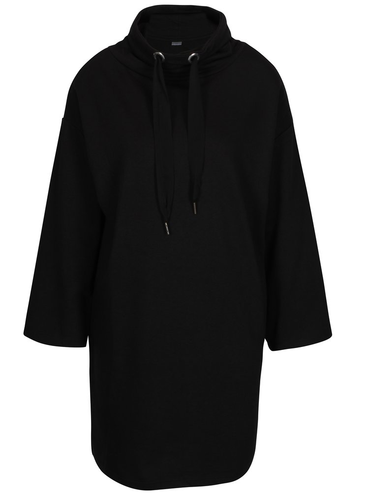 Černé mikinové šaty s rolákem Jacqueline de Yong Asta