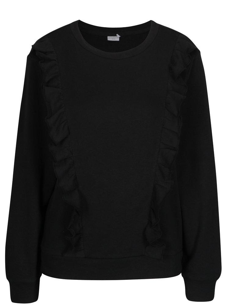 Bluza neagra cu volane - Jacqueline de Yong Lotte