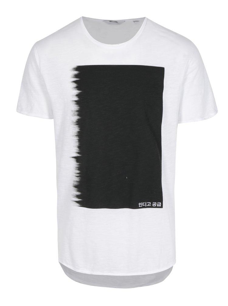 Bílé tričko s potiskem ONLY & SONS Samuel