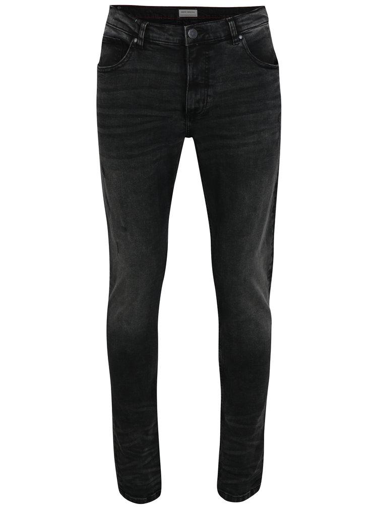 Tmavě šedé slim fit džíny s potrhaným efektem Shine Original