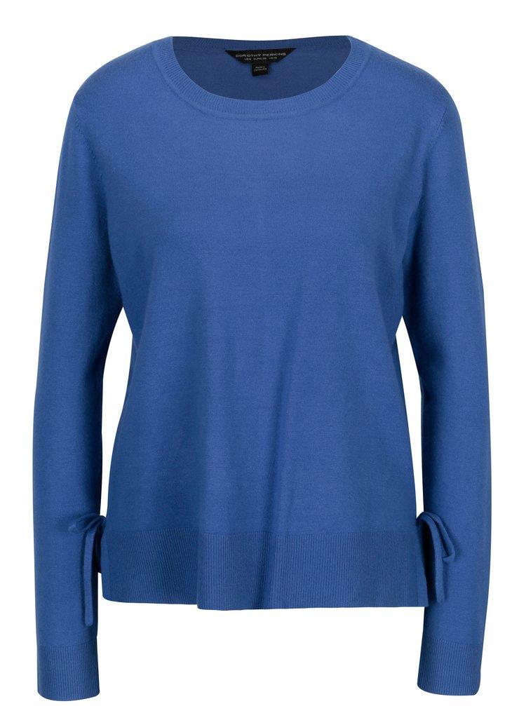 Modrý svetr s mašlí na bocích Dorothy Perkins