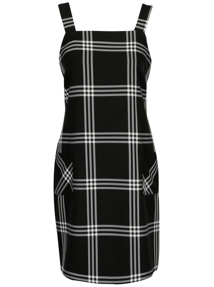 Černé kostkované šaty Dorothy Perkins